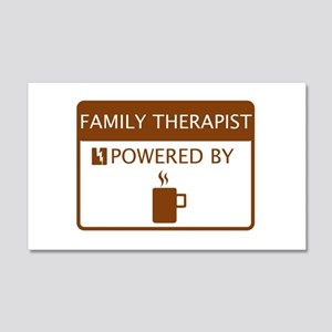 Family Therapist Powered by Coffee 20x12 Wall Deca