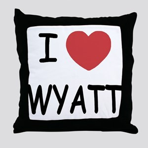 I heart WYATT Throw Pillow