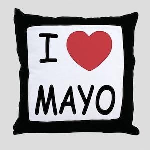 I heart mayo Throw Pillow