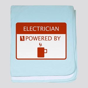 Electrician Powered by Coffee baby blanket