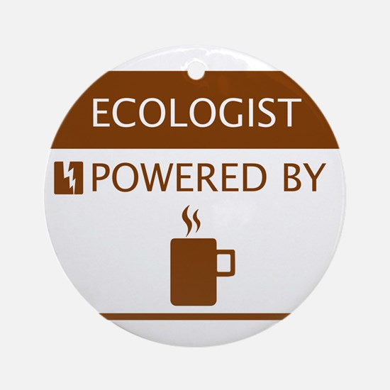 Ecologist Powered by Coffee Ornament (Round)