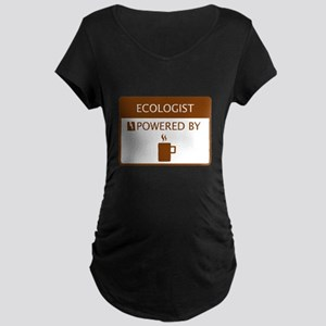 Ecologist Powered by Coffee Maternity Dark T-Shirt