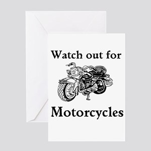 Watch out for motorcycles Greeting Card