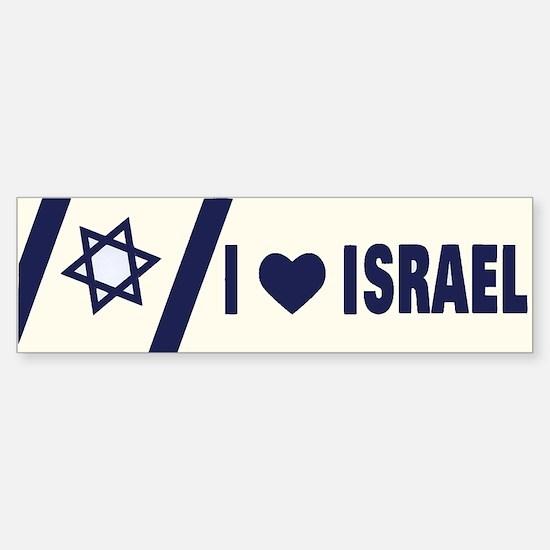 I Heart Israel Bumper Bumper Bumper Sticker