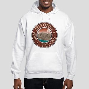 San Antonio - Distressed Hooded Sweatshirt