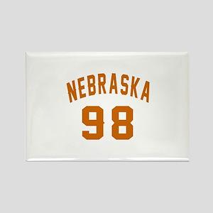 Nebraska 98 Birthday Designs Rectangle Magnet