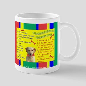 Property Laws -Mug -Lab, Yellow Mugs