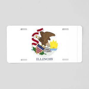 Illinois State Flag Aluminum License Plate