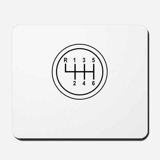 Real Cars Don't Shift Themselves (wht) Mousepad