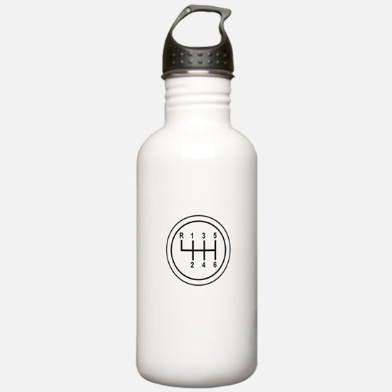 Real Cars Don't Shift Themselves (wht) Water Bottle