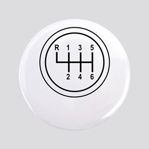 """Real Cars Don't Shift Themselves (wht) 3.5"""" Button"""