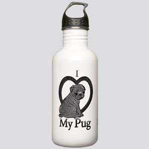 B@W Pug 1 Stainless Water Bottle 1.0L