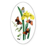 Butterflies of Summer Sticker (Oval)