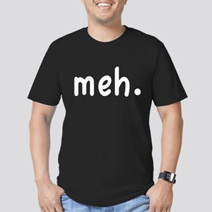 Meh Shirt Men's Fitted T-Shirt (dark)