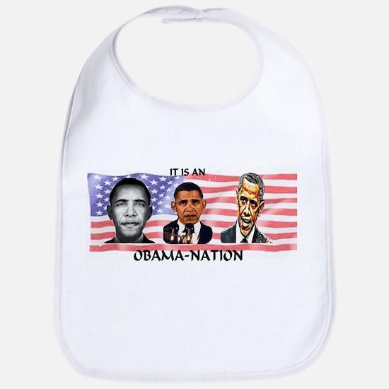 Obama-Nation Flag Bib
