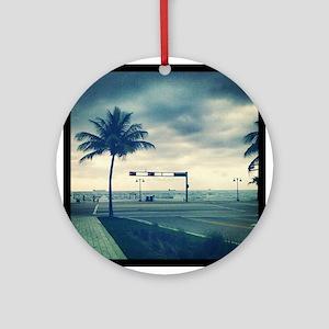 Fort lauderdale beach Ornament (Round)