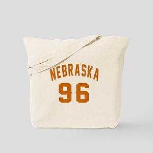 Nebraska 96 Birthday Designs Tote Bag