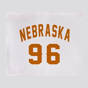 Nebraska 96 Birthday Designs Throw Blanket