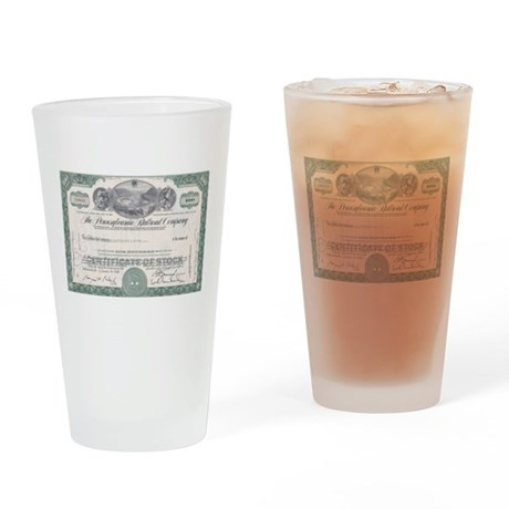 PENNSYLVANIA RR STOCK CERTIFICATE Drinking Glass