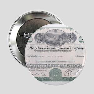 "PENNSYLVANIA RR STOCK CERTIFICATE 2.25"" Button"