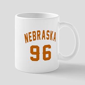 Nebraska 96 Birthday Designs 11 oz Ceramic Mug