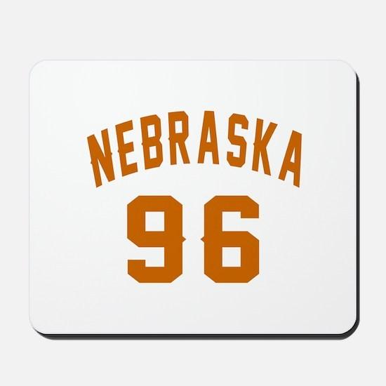 Nebraska 96 Birthday Designs Mousepad