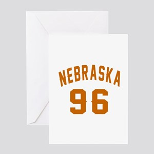 Nebraska 96 Birthday Designs Greeting Card