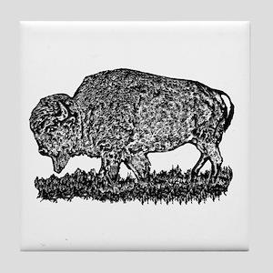 B@W Buffalo Tile Coaster