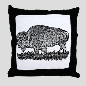 B@W Buffalo Throw Pillow