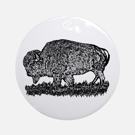 B@W Buffalo Ornament (Round)