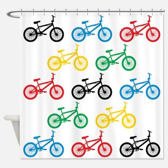 BMX Bikes Shower Curtain
