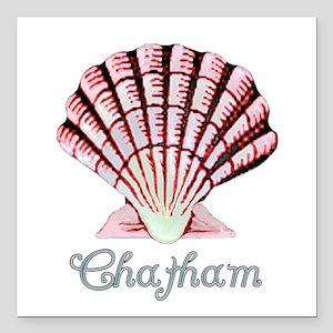 "Chatham Shell Square Car Magnet 3"" x 3"""