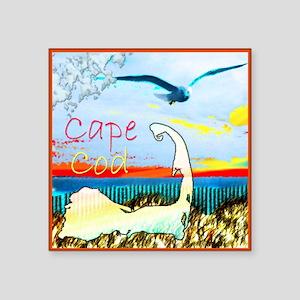 """Cape Cod Gull Square Sticker 3"""" x 3"""""""