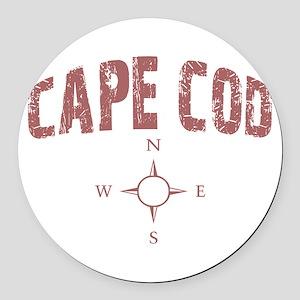 capecodcompass Round Car Magnet