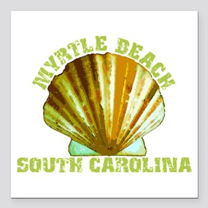 "Myrtle Beach South Caro Square Car Magnet 3"" x 3"""
