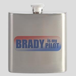 Brady Is My Pilot Flask