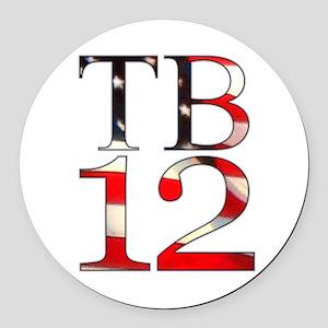 TB 12 Round Car Magnet
