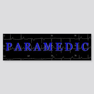 PARAMEDIC on 12lead ECG graphic Bumper Sticker