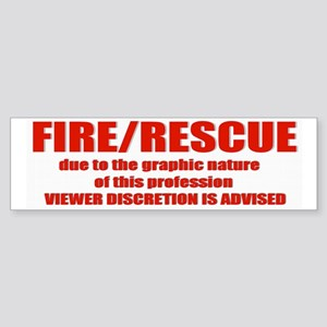 FIRE/RESCUE Bumper Sticker