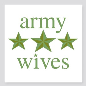"""Army Wives Square Car Magnet 3"""" x 3"""""""