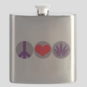 peacelovepurplleaf1 Flask