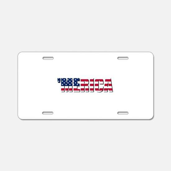 Merica USA Aluminum License Plate