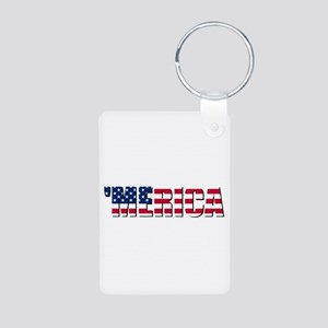 Merica USA Aluminum Photo Keychain