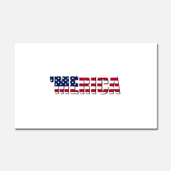 Merica USA Car Magnet 20 x 12