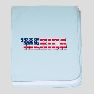 Merica USA baby blanket