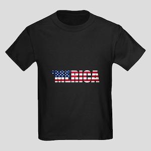 Merica USA Kids Dark T-Shirt