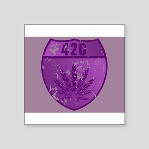 "420patch Square Sticker 3"" x 3"""