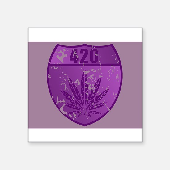"""420patch.png Square Sticker 3"""" x 3"""""""
