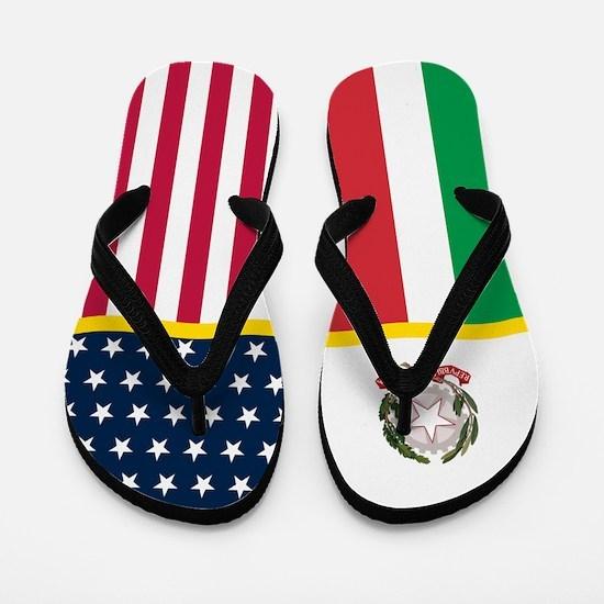 Italy Italian American Flag Flip Flops