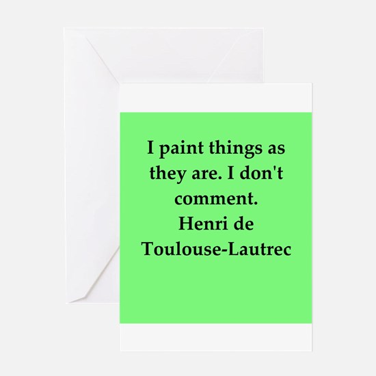 lautrec2.png Greeting Card